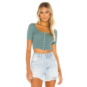 Free People Little Cutie Cardi Solid Ribbed